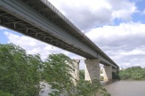 The bridge through the the Ural river in the city of Uralsk on the motorway of Samara – Chimkent